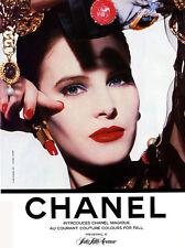 1987 Chanel makeup beauty lipstick lips Magique MAGAZINE AD - Fall colours