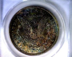 ANACS BEAUTIFULLY TONED MS62 1921 MORGAN SILVER DOLLAR COIN
