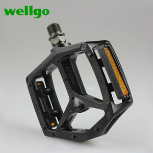 """WELLGO Bicycle Cycling Large Pedals Alloy Sealed Bearing MTB BMX Road Bike 9/16"""""""
