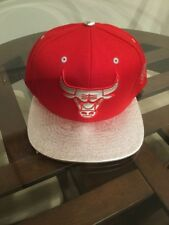 NWT Chicago Bulls Mitchell & Ness Red Silver Logo Snapback Hat Cap New With Tag