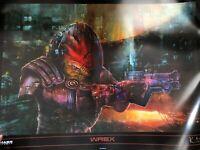 Mass Effect Wrex Lithograph / Lithographie Art
