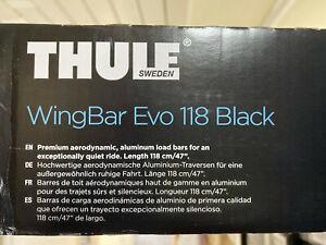 BRAND NEW Thule WingBar Evo 118cm Aerodynamic Load Bar Pair - Black (711220)