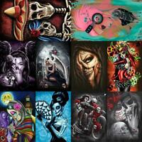 5D Full Drill Diamond Painting Skull Beauty Cross Stitch Art Craft Kit Home Wall