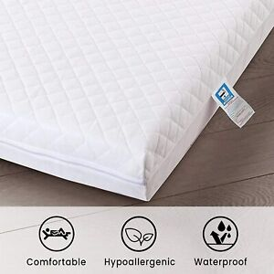 Cot Bed Mattress Baby Toddler Matress Breathable Quilted Junior Foam All Sizes