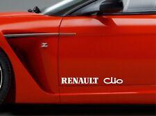 2x Door Sticker Fits Renault Clio Side Vinyl Decals Premium Qaulity RT77