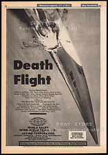 SST: DEATH FLIGHT__Original 1977 Cannes Trade AD / poster__TINA LOUISE__MST3K