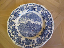 English Tableware By Unicorn, Staffordshire England, Blue & White Scalloped edge