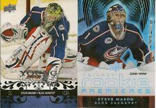BV $27 US 2008-09 lot of 2 STEVE MASON Rookies – Young Guns & Trilogy /999