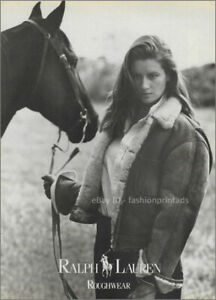 Vintage RALPH LAUREN 1-Page Magazine PRINT AD Fall 1986 ISABELLE TOWNSEND