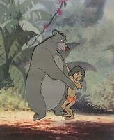 1967 RARE WALT DISNEY JUNGLE BOOK BALOO MOWGLI ORIGINAL PRODUCTION ANIMATION CEL