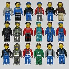 LEGO LOT OF 18 JACK STONE MINIFIGURES POLICE CREWMAN MAX RES-Q FIGURES