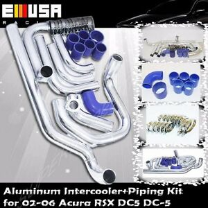 Intercooler Piping+Silicones+Clamps Kit for 02-06 Acura RSX DC-5