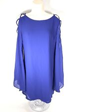 Umgee women's dress Size M Boho Tunic Mini Criss Cross Bell slotted Sleeves