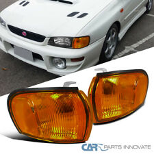For 95-01 Subaru Impreza Amber Lens Corner Lamps Front Turn Signal Lights Pair