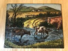 Vintage Artini 5508 - Cows / Cattles In a Stream - Artist Whitman