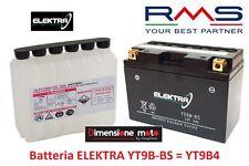 Batteria ELEKTRA YT9B-BS  12V-8Ah + Acido per YAMAHA YFM-R 700 Raptor dal 2006