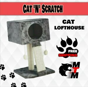 CAT 'N' SCRATCH LOFTHOUSE : Sharples Scratching Tree House bp Pad Cave Ball Toys
