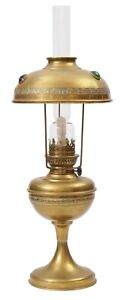 Wunderschöne original Jugendstil Petroleumlampe Messinglampe 1900 elektrifiziert