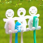 Toothbrush Toothpaste Holder Wall Mount Hanger Bathroom Suction Grip Rack Holder