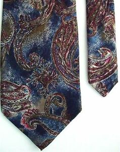 "Stefano Rossini Men's Silk Novelty Neck Tie Blue 4"" x 58"""