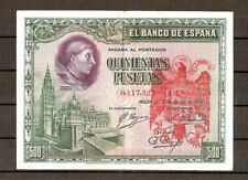SELLO AGUILA DE SAN JUAN 500 PESETAS 1928, BURGOS CIVIL RESELLO FRANCO Lgf
