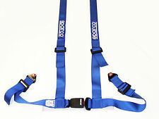 """Sparco Racing Street 4 Point Bolt-In 2"""" Seat Belt Harness (Blue)"""