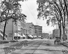 Historical Photograph of Military Street Port Huron Michigan Year 1908c 8x10