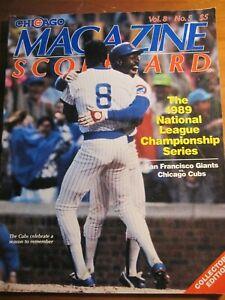 1989 Chicago Magazine Scorecard Vol 8 No 5  *rp*