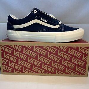 Vans Old Skool Pro Wrapped Navy Blue Marshmallow Skate Shoes Men's Size 8