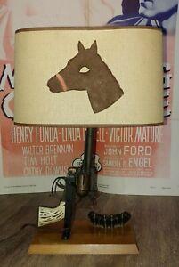 Vintage Maverick 45 Leslie Henry Cap Gun Lamp