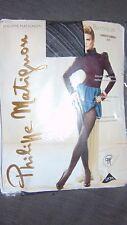 """Phillipe Matignon 1 pr """"Baroque"""" Spirale Motif Collants 32"""" -36"""" pour femme Noir Bnwt"""