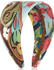 DOLCE & GABBANA Multi-colored Floral Printed Silk Headband New In Box