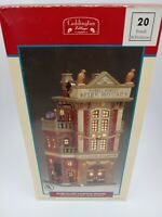 Lemax 2001 Caddington Village Porcelain 20 Powell St. Firehouse Retired #15578A