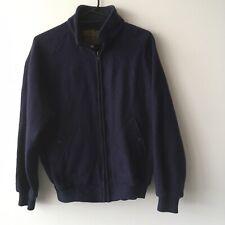 Norwellan Bluey Wool Zip Up Jacket - Navy Blue Men's 107R (XL)