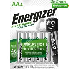 4 x Energizer AA 2000 mAh Rechargeable Power Plus Batteries NiMH HR6 MN1500 RTU
