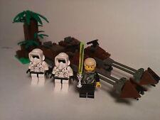 LEGO STAR WARS COMPLETE 7128 Speeder Bikes 1999 Luke Skywalker Scout Trooper x2