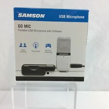 Samson Go Mic Portable USB Microphone with software Video chat Podcast Gaming.