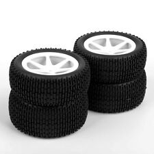 90mm Buggy Front Rear Rubber Tire Wheels Rims 4Pcs Set For RC 1:10 Off-Road Car