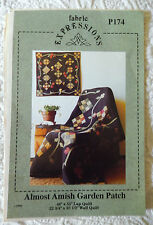 Quilt Pattern New Almost Amish Garden Patch Country Quilting Fabric Expressions