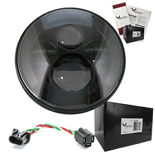 "Eagle Lights 7"" Round Black LED Headlight fits all Harleys Lifetime Warranty"