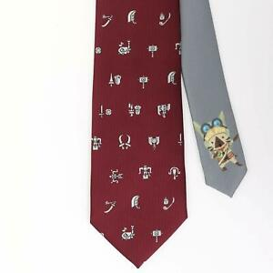 Monster Hunter Necktie Tie Weapon icon x Red w/BOX Japan Game Gift Mens Cosplay