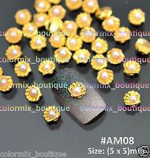 20pcs 3D Ocean Life Nail Art Decoration Shiny Gold Shell Alloy Jewelry #AM08