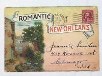 Romantic New Orleans folder 1930s post card souvenir booklet