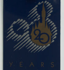 Walt Disney World Park, 1991   20 Year Anniversary Keycard Badge Pass