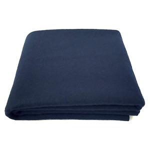 "EKTOS 100% Wool Blanket, Navy Blue, Warm & Heavy 5.0 lbs, Large Washable 66""x90"""