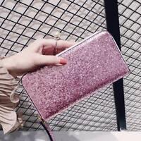 Wallet Sequin Glitter Women Lady Party Card Holder Long Clutch Zipper Purse Hot