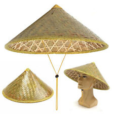 Chinese Oriental Vietnamese Coolie Straw Bamboo Sun Hat Farmer Rice Hat Fishing