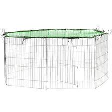 Freilaufgehege mit Schutznetz grün Kaninchenkäfig Kaninchen Hasen Freigehege