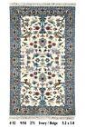 HUNTING Rug Handmade Carpet 3' x 5' Traditional Design Wool Ivory Rug