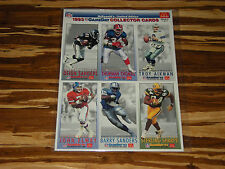 1993 McDonalds Game Day NFL Uncut Card Sheets - Mixed Lot